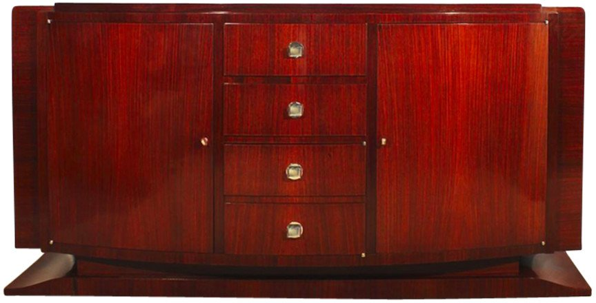 Walnut Sideboard, France, 1930s