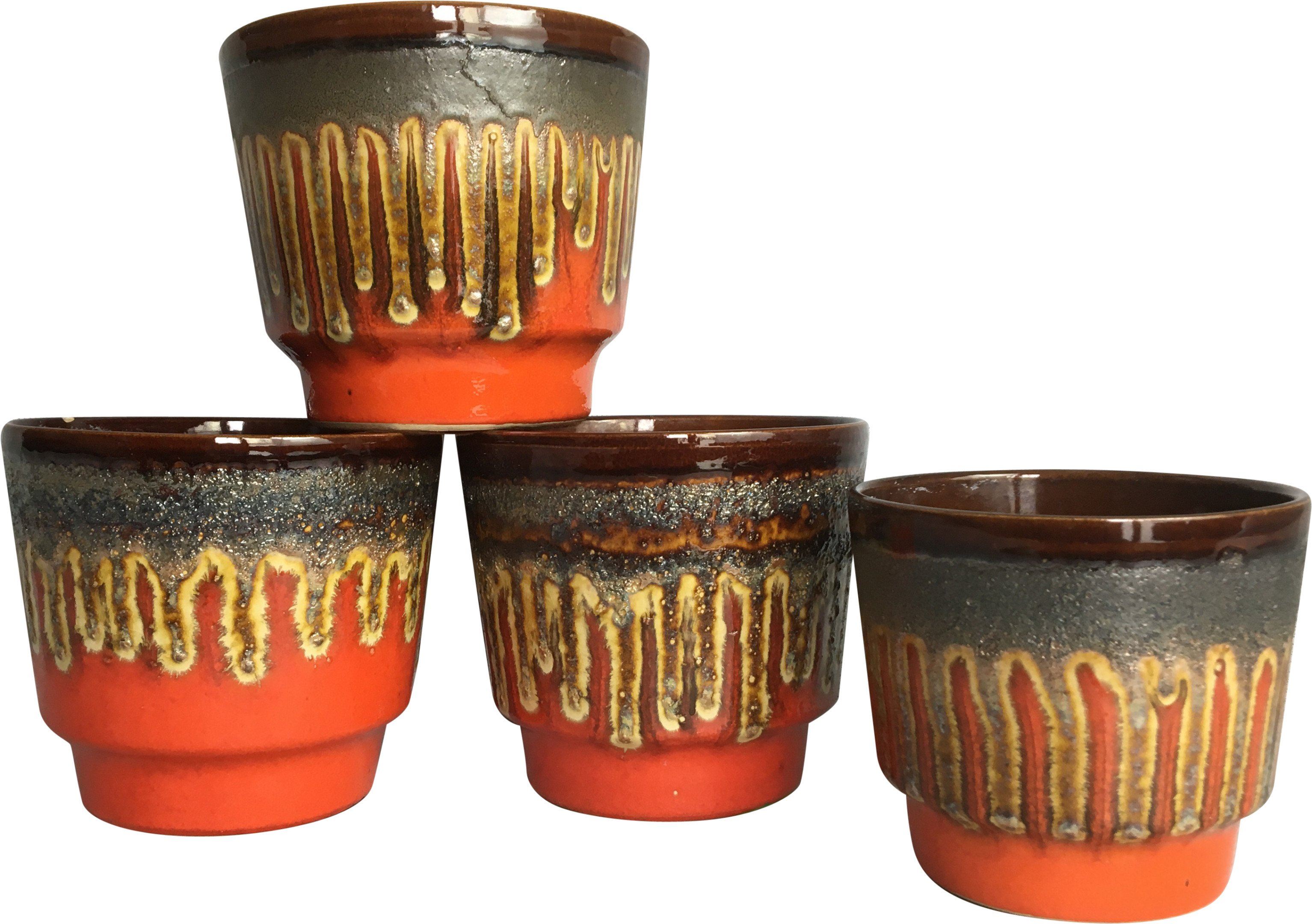Set of Four Pots, Germany, 1960s