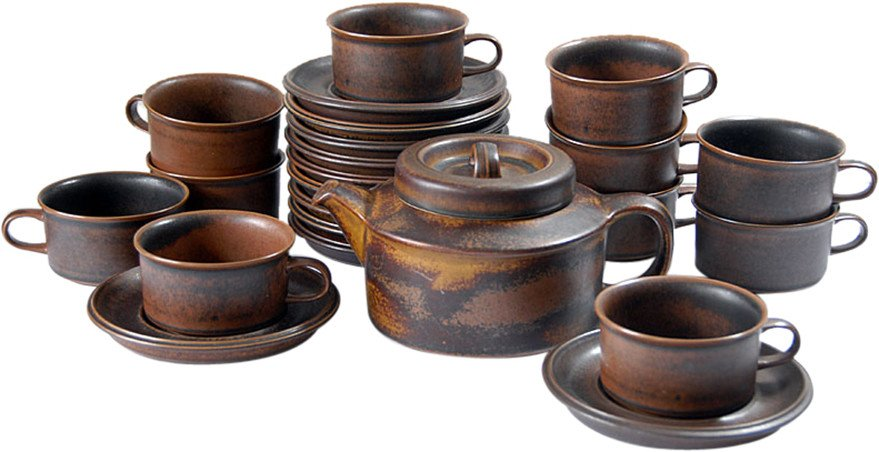 Jug and Cups of Ruska, Arabia, Finland, 1970s.