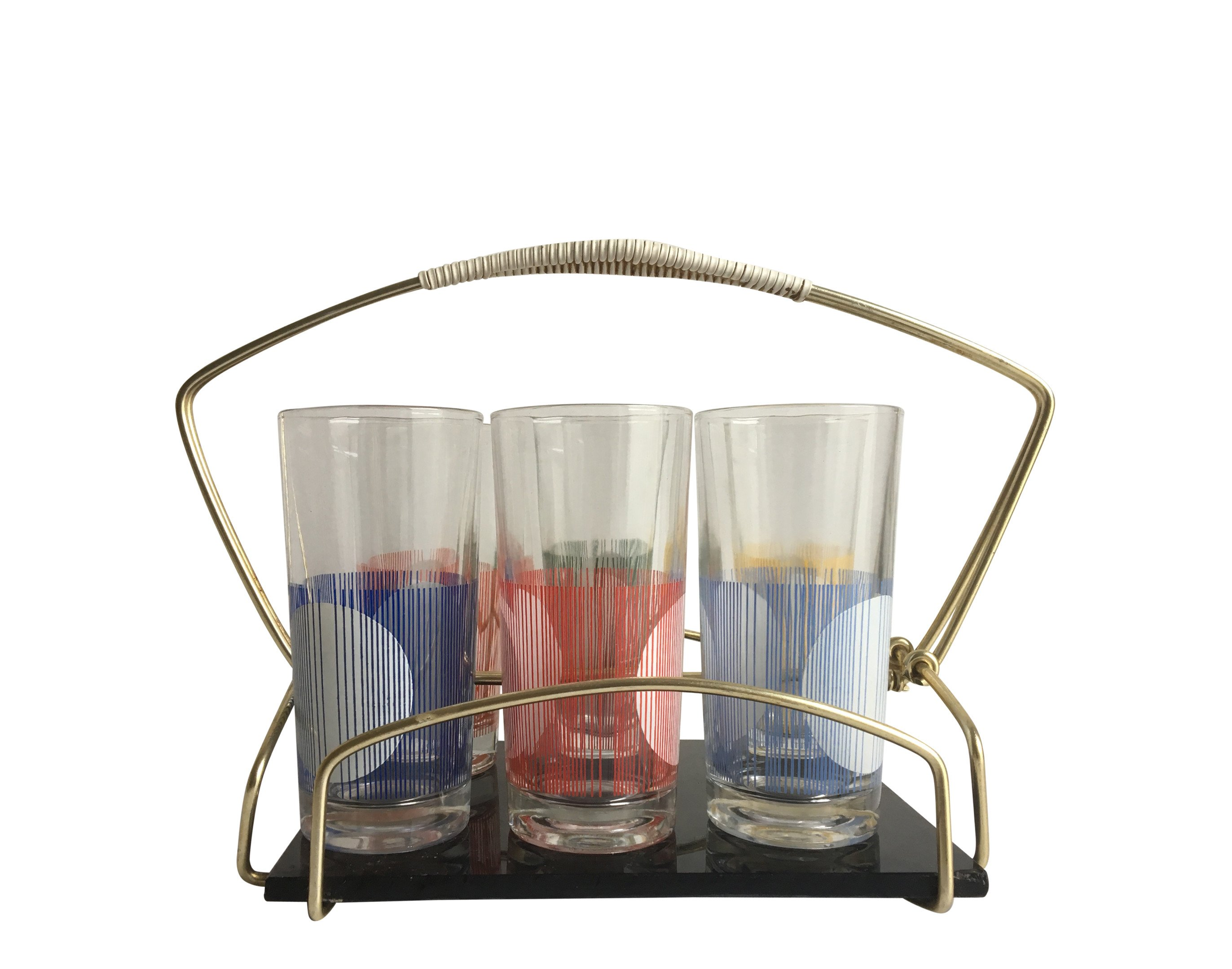 Set of Six Glasses with a Stand, 1960s