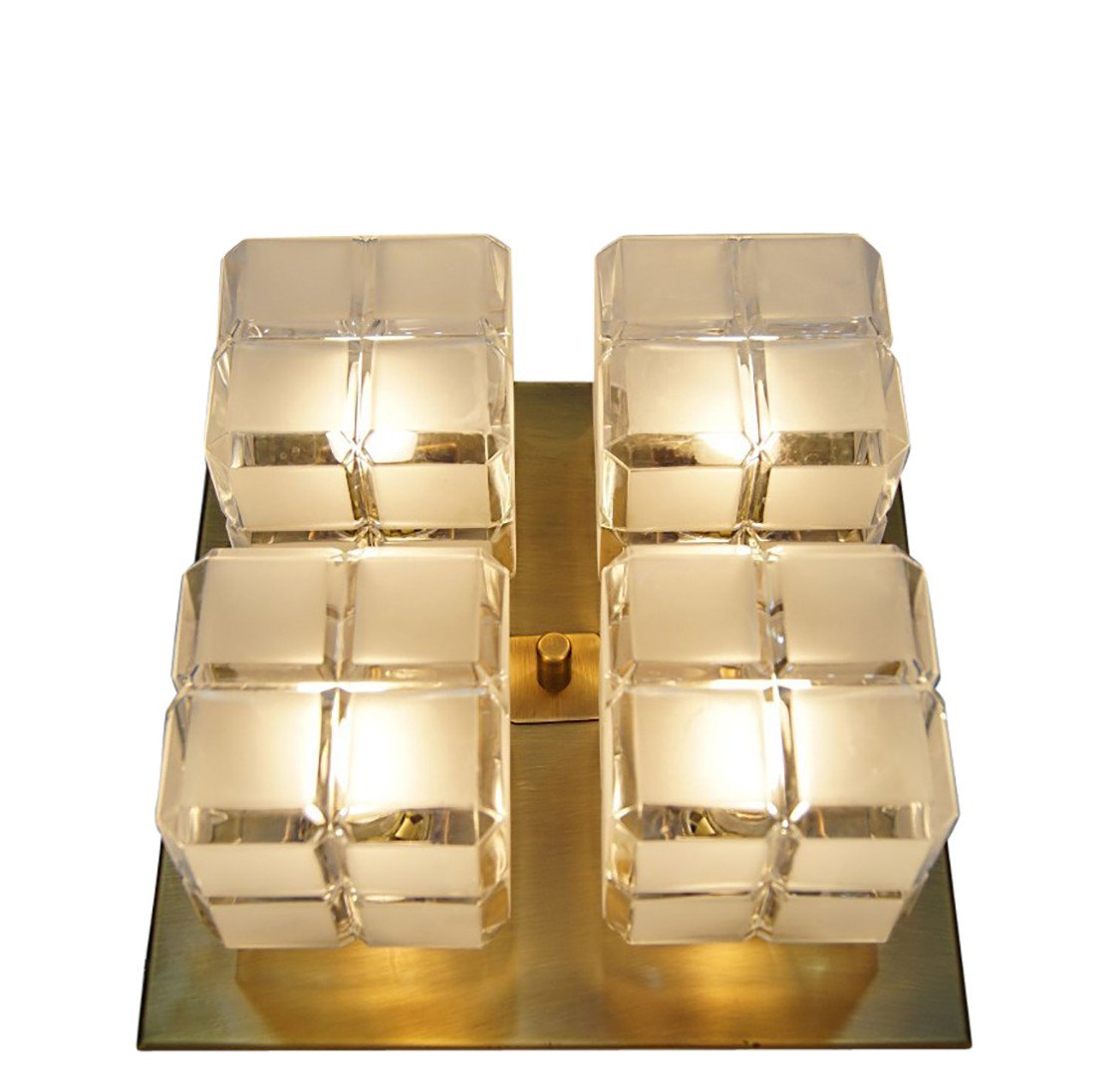 Set of Two Cube Ceiling Lamps, Hillebrand, Germany, 1960s