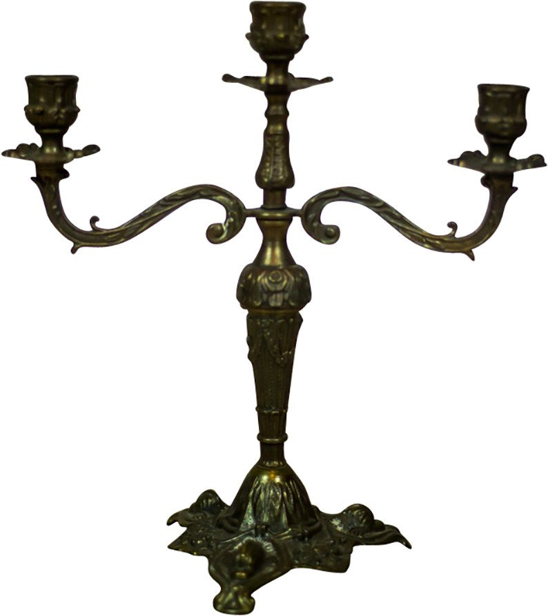 Brass Three-Armed Candleholder, early 20th C.