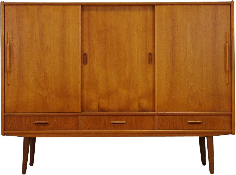 Highboard tekowy, lata 70.