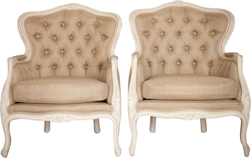 Pair of Quilted Armchairs, 1930s
