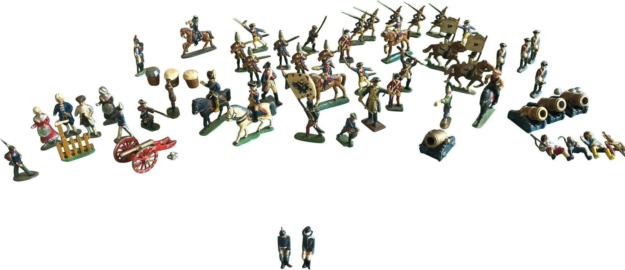 Set of Sixty-Nine Figures of Lead Soldiers, Germans, 1930s