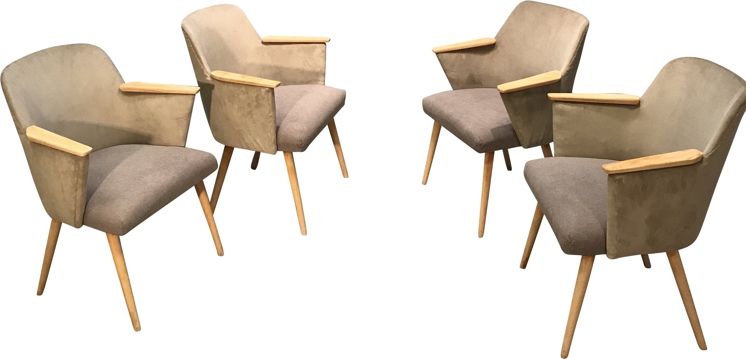Set of Four Armchairs, Casala, 1960s