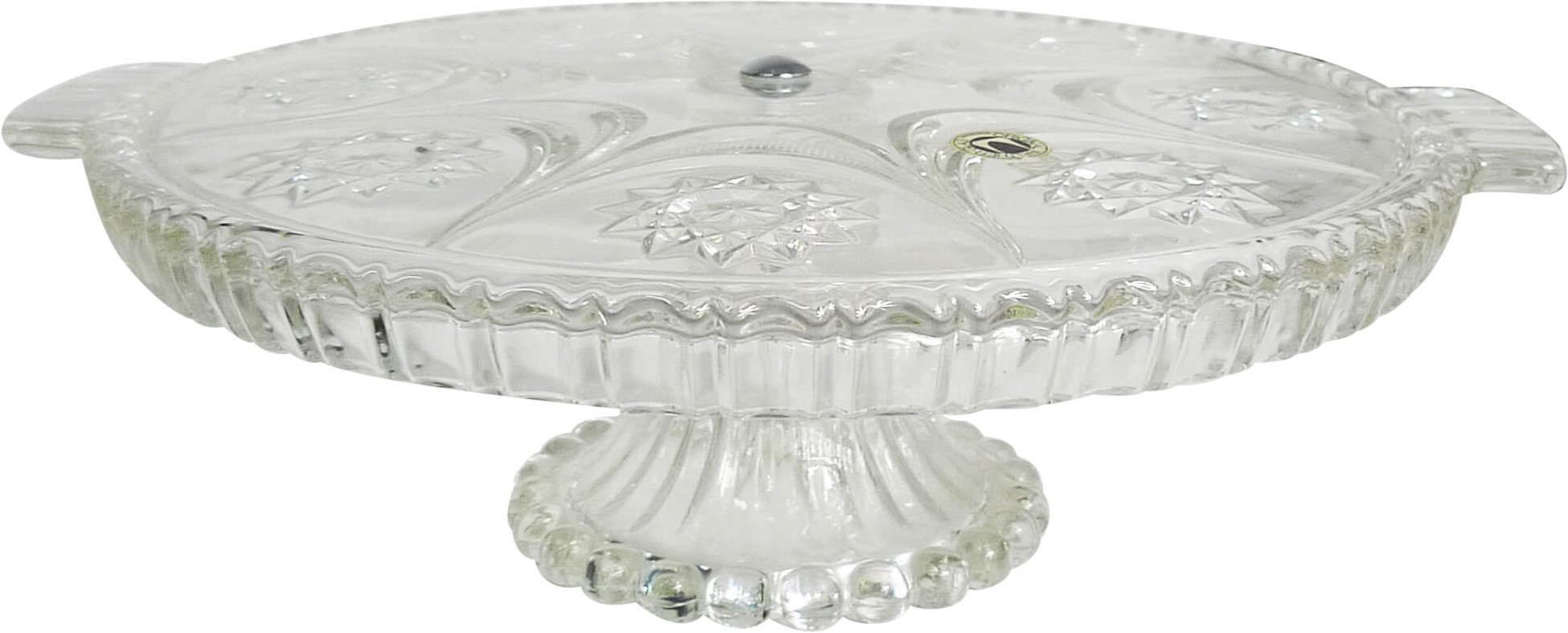 Crystal Pedestal Plate, Walther Glas, Germany, 1970s
