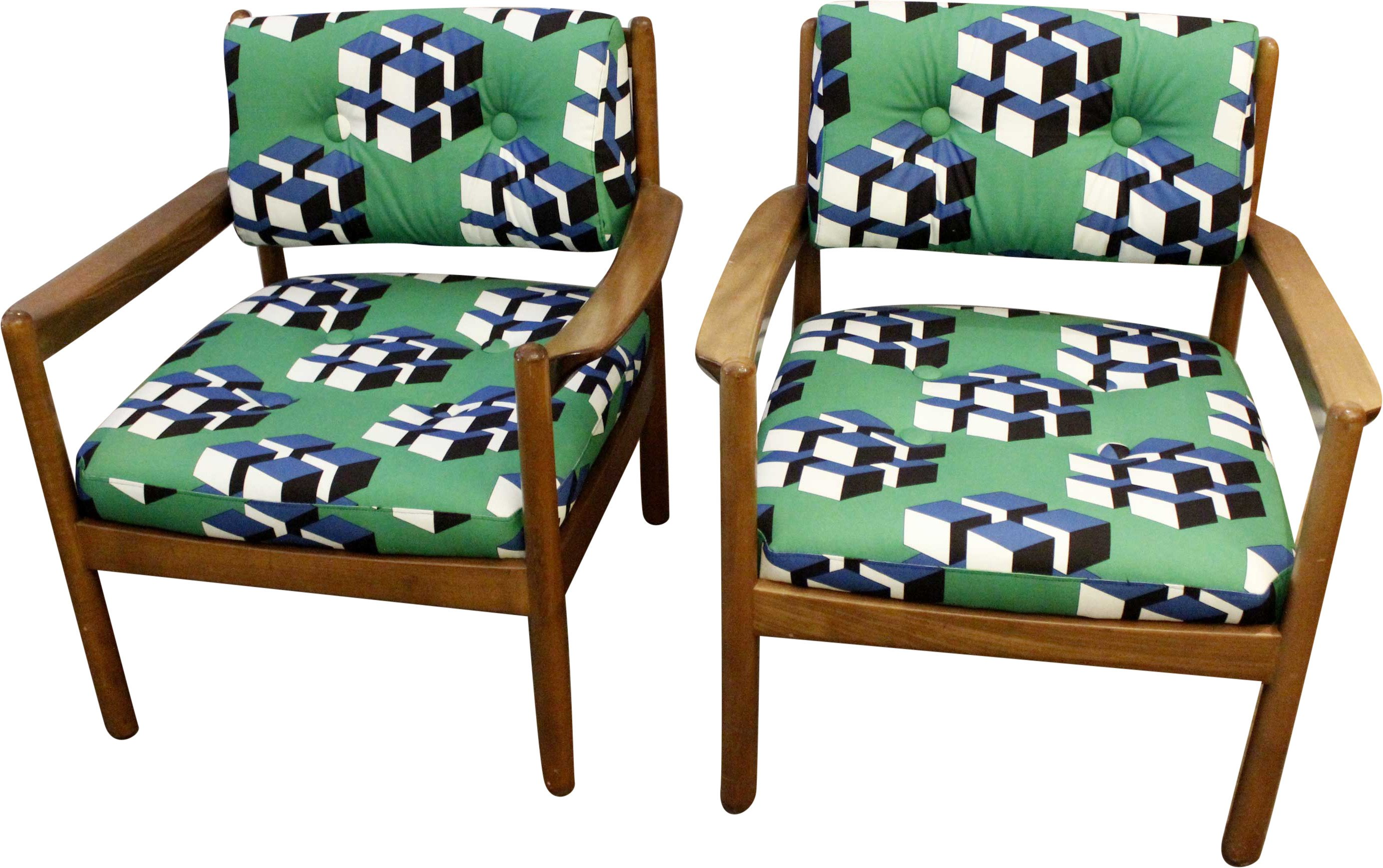 Pair of Armchairs, 1970s
