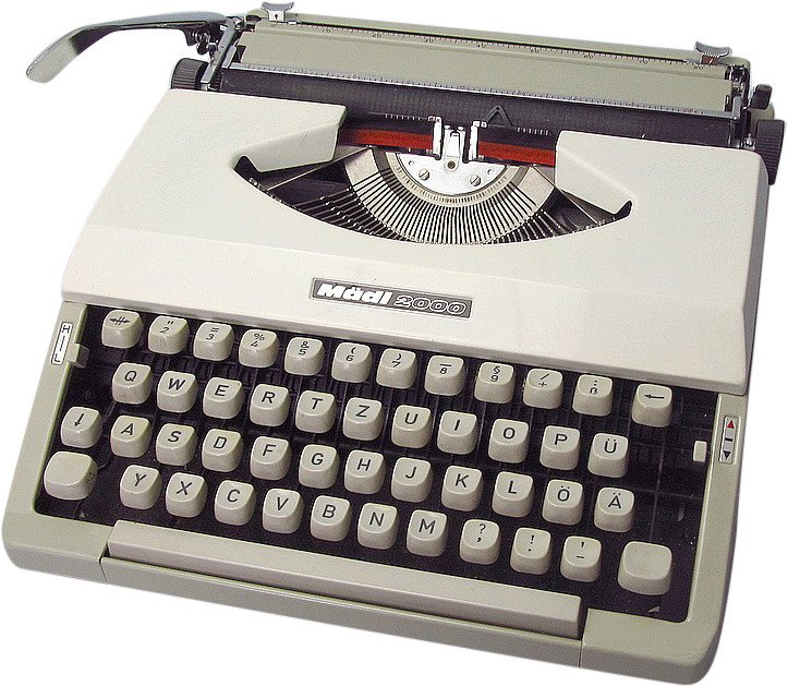 Writing Machine madi2000, 1970s
