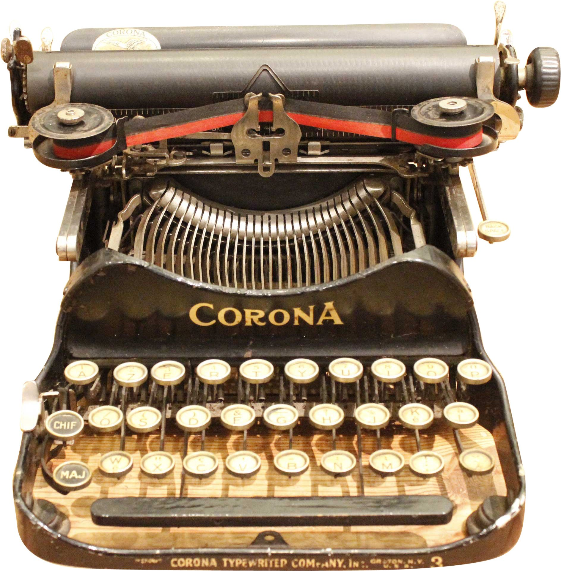 Typewriter CORONA 1917, early 20th C.