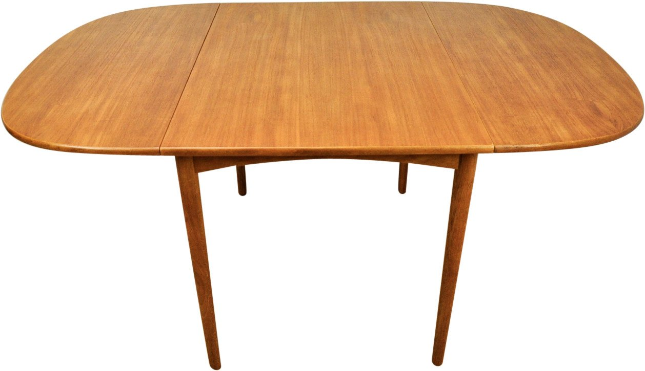 Folding Teak Table, Denmark, 1960s