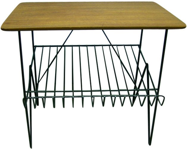 Table with a Magazine Rack, 1970s