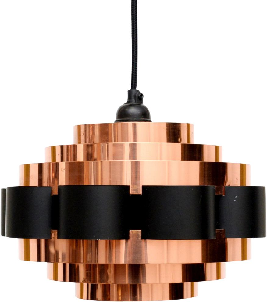 Copper Lamp by W. Shou, Coronell Electro, Denmark, 1960s