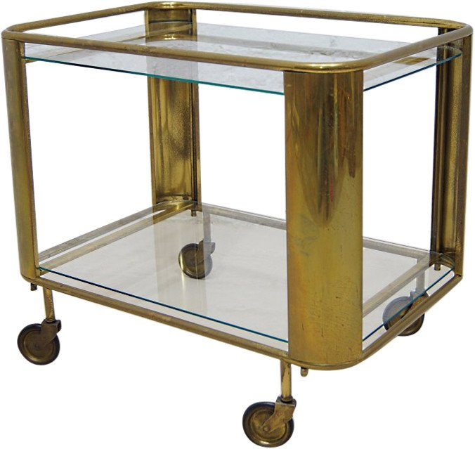 Brass Bar Trolley, France, 1920s