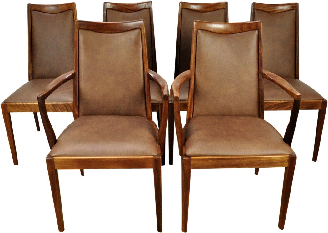 Set of Four Cairs and Two Armchairs, G-Plan, Great Britain, 1960s