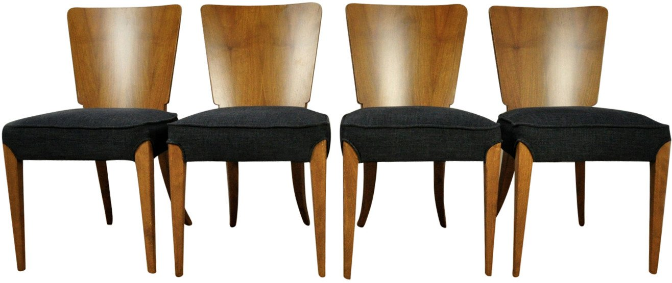 Set of Four Chairs by J. Halabala, UP Závody, Czech Republic, 1950s