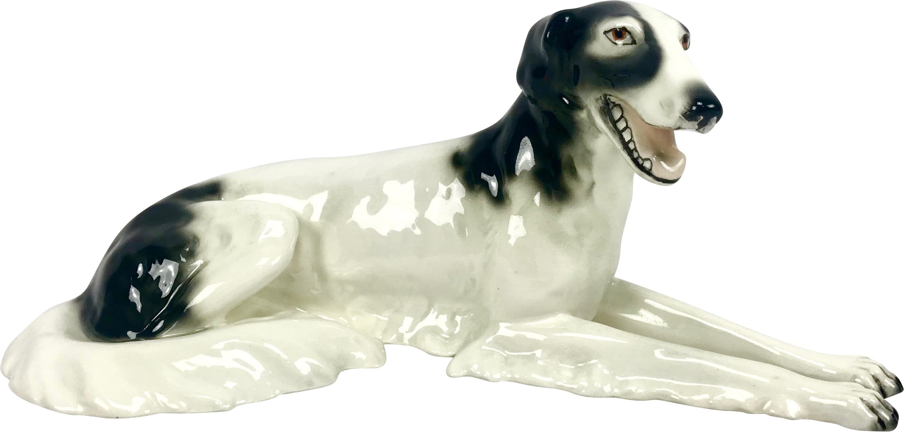 Dog Figurine, Royal Dux Bohemia, Czechoslovakia, 1920s