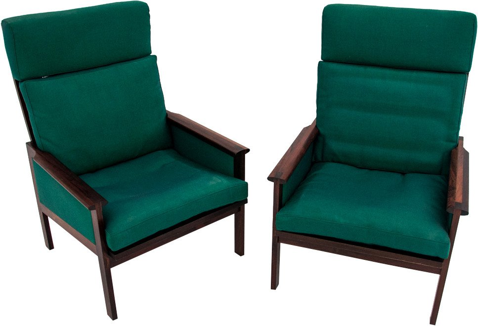 Pair of Armchairs, Denmark, 1950s
