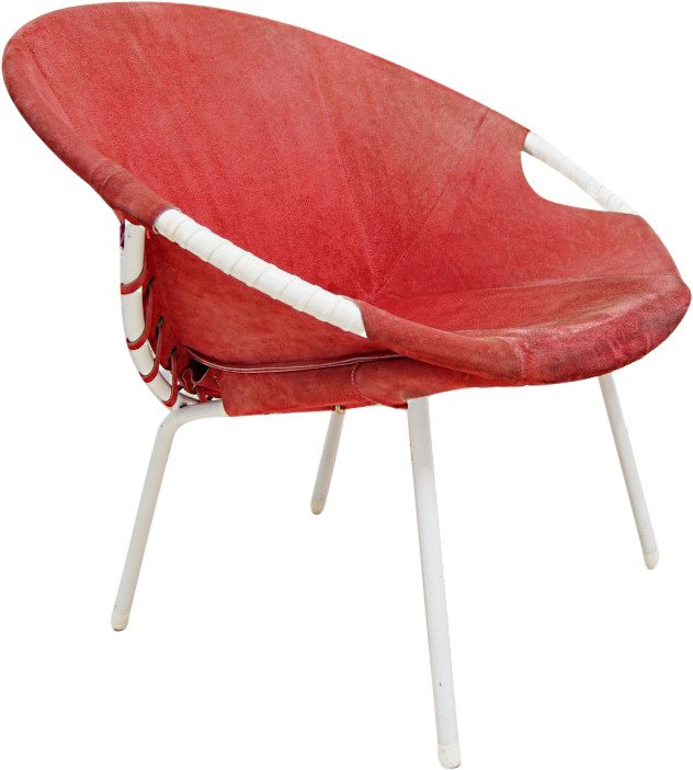 Circle Leather Armchair by L. Erzeugnis, Lusch & Co., 1960s