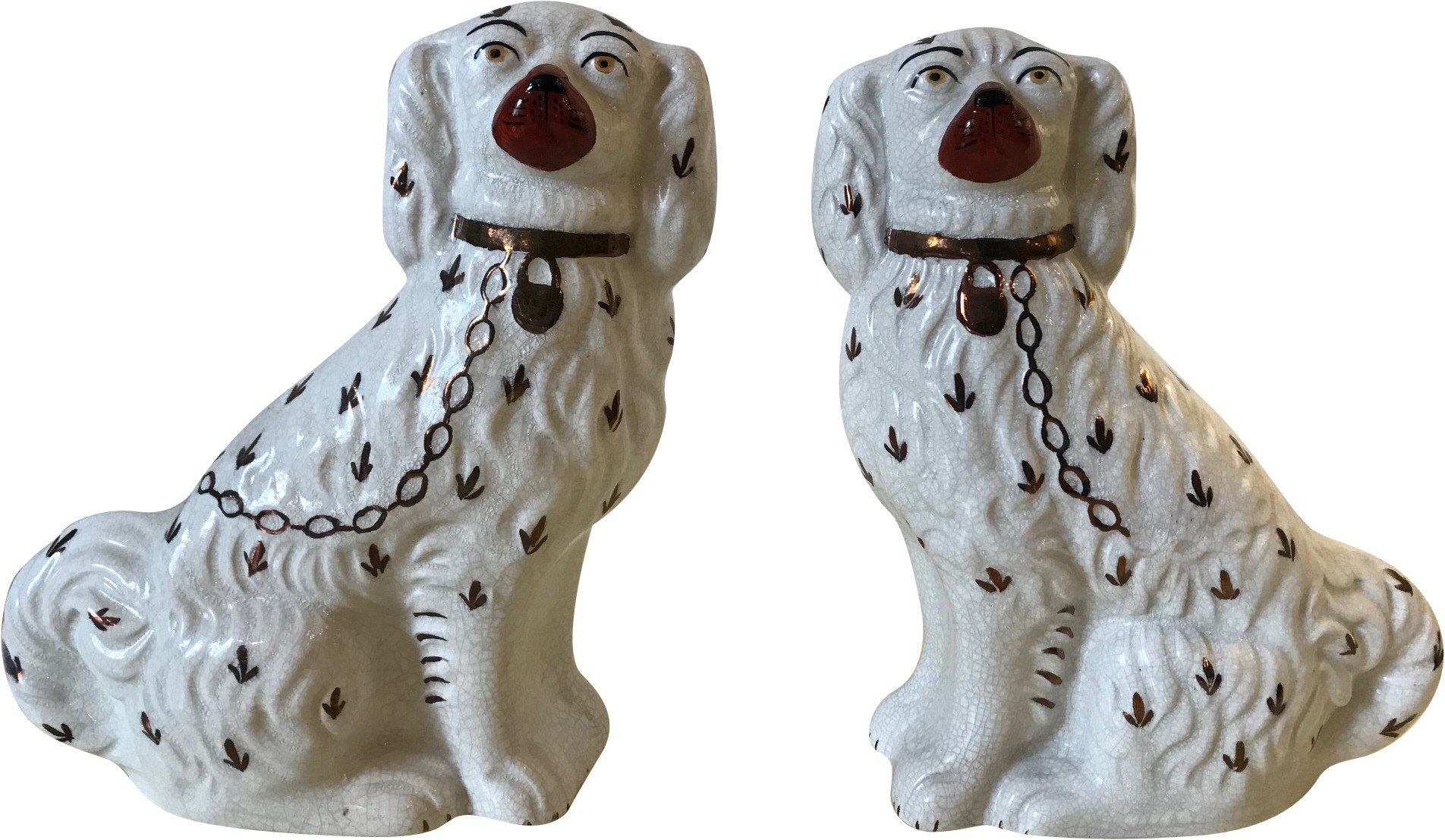 Pair of Spaniels Dog Figurines, 1950s