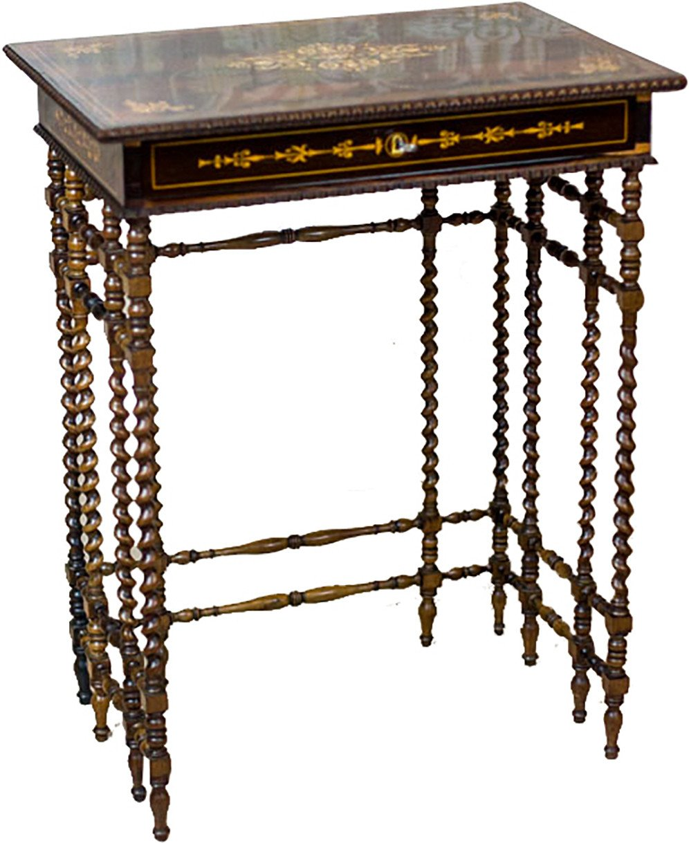 Intarsiated Table, France, 19th C.