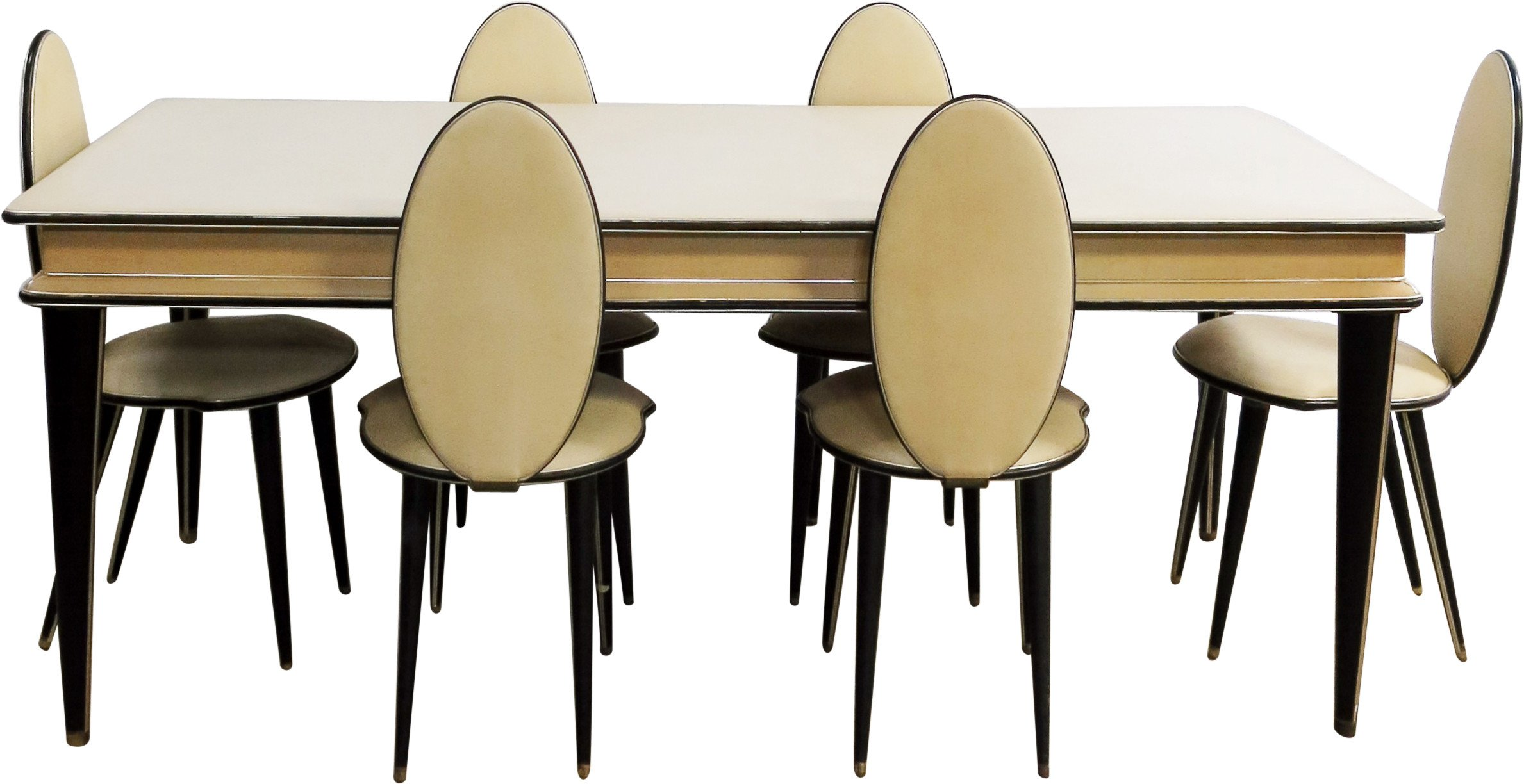 Dining Set by U. Mascagni, Harrods, 1950s
