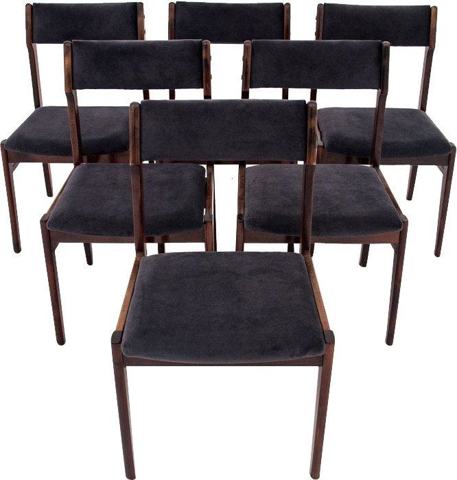 Set of Six Chairs, Denmark, 1960s