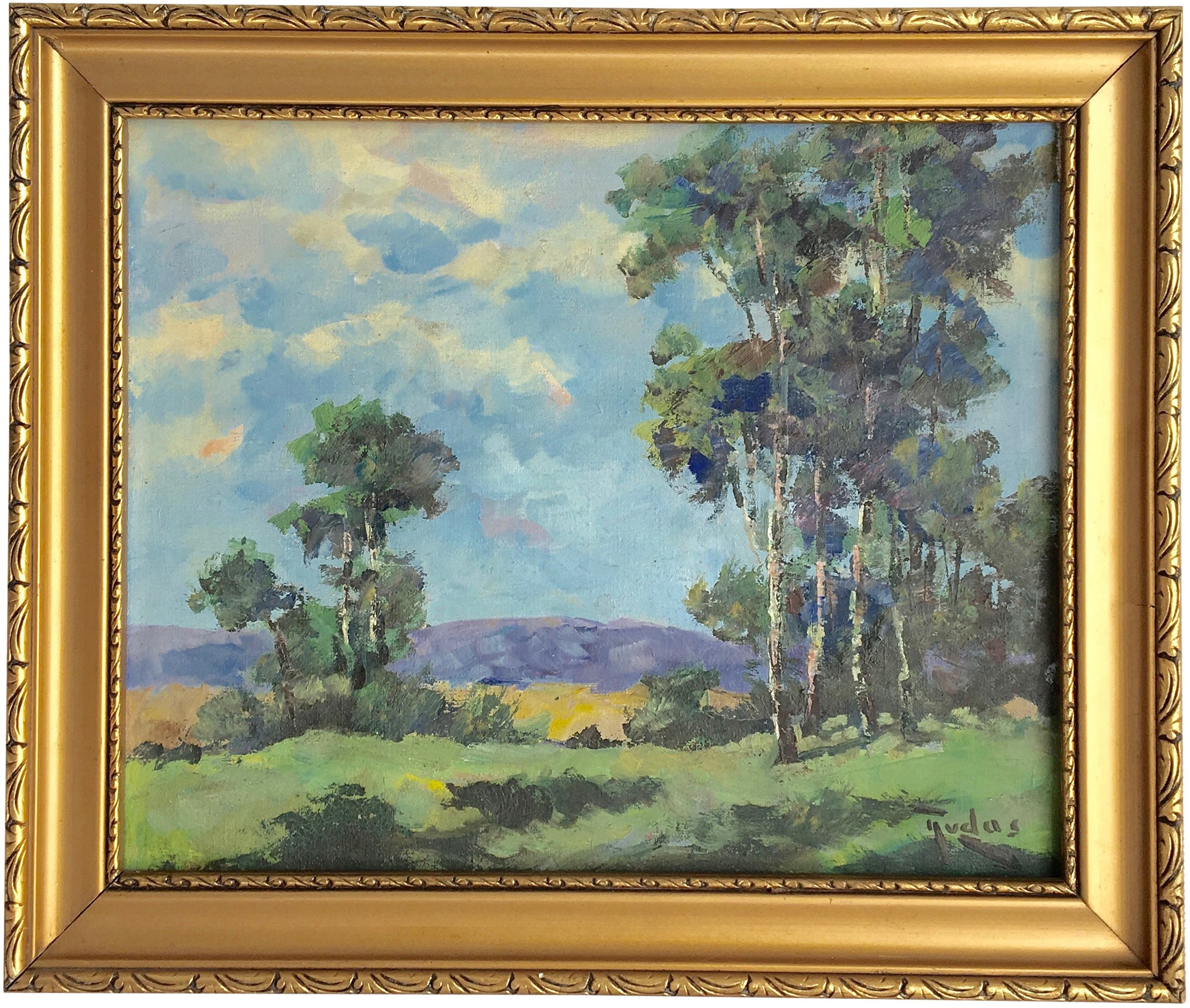 Oil Painting of the Landscape, 1960s