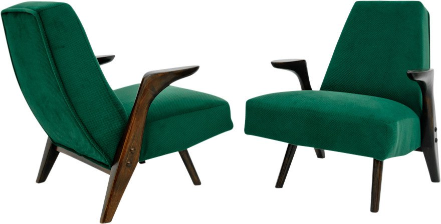 Pair of Armchairs, Poland, 1970s