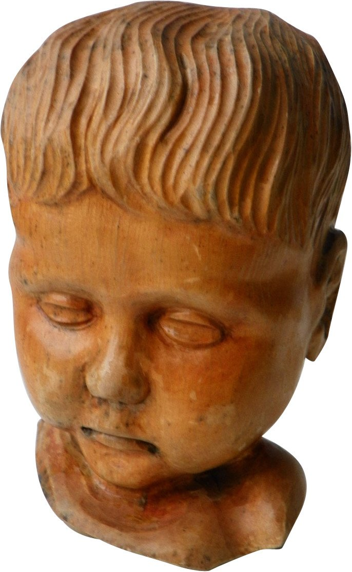 Sculpture of a Child's Head, 1970s