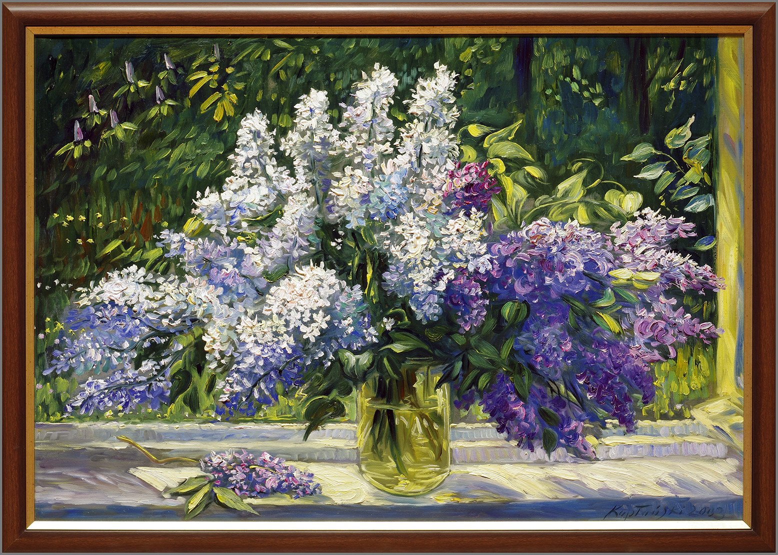 Flowers, Oil Painting by J. Kapłański, 2003s