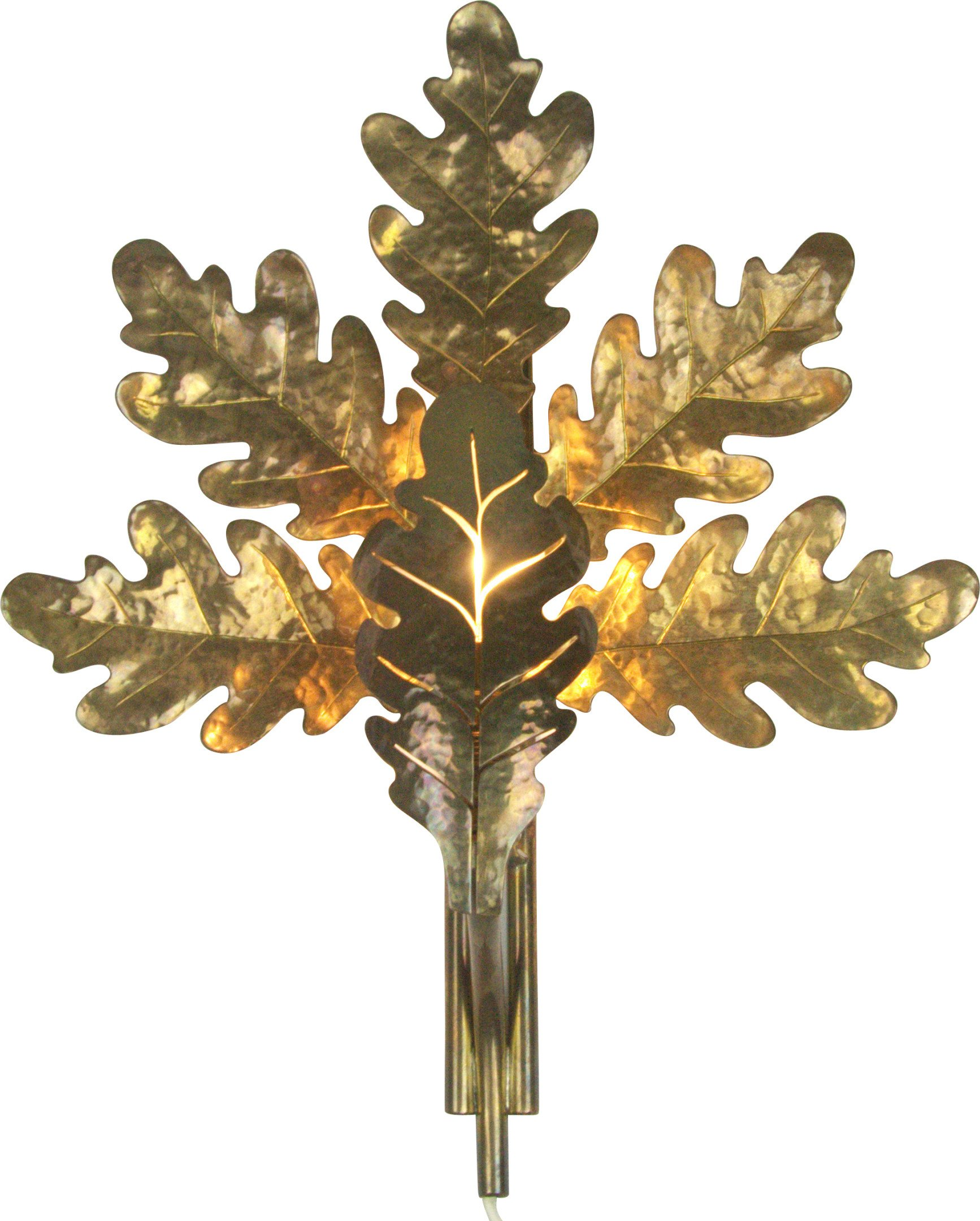 Brass Wall Lamp, 1950s