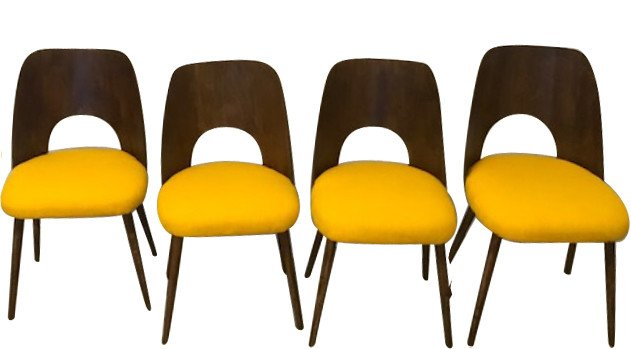 Set of Four Chairs, Czechoslovakia, 1960s