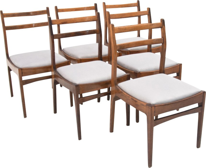 Set of Six Chairs, Poland, 1960s