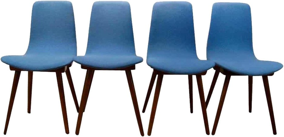 Set of Four Chairs A-6150, Fameg, Poland, 1960s