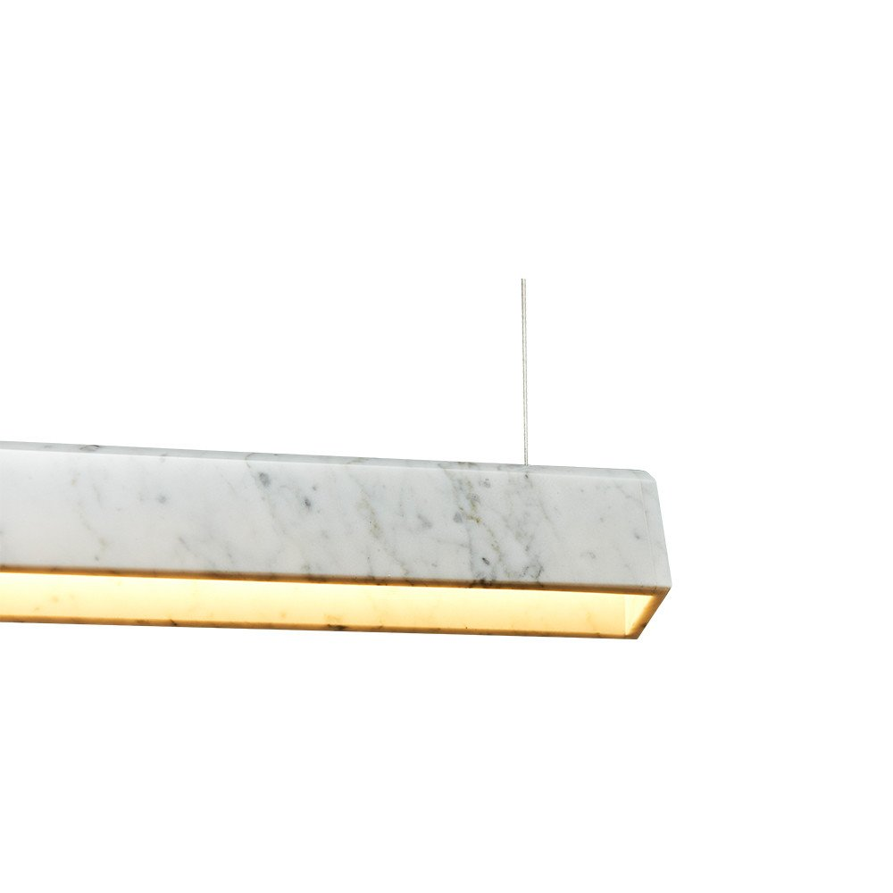 Palace Suspended Lamp Carrara Bianco 90 by Lexavala