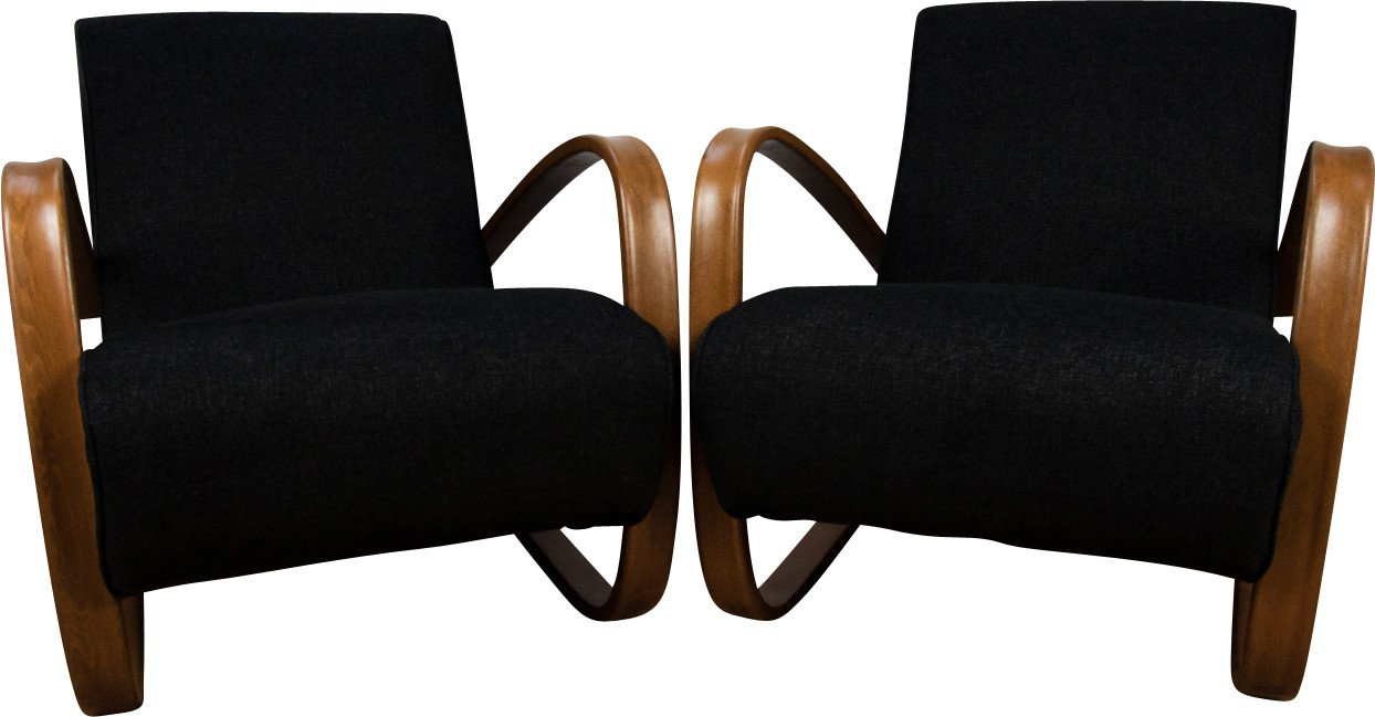 Pair of Armchairs H-269 by J. Halabala, UP Zavody, Czechoslovakia, 1930s