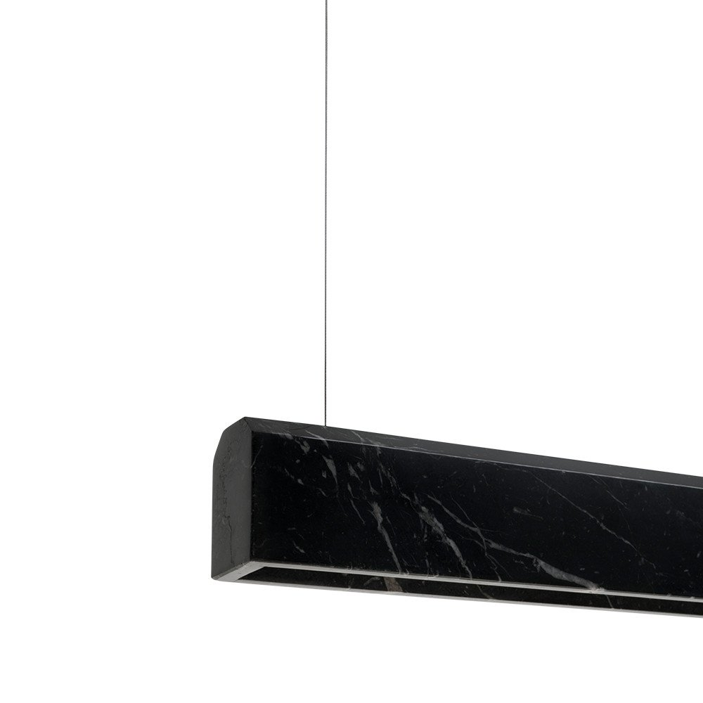 Palace Suspended Lamp Marquina Nero 150 by Lexavala