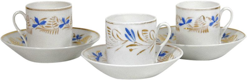 Set of Three Cups, 19th C.