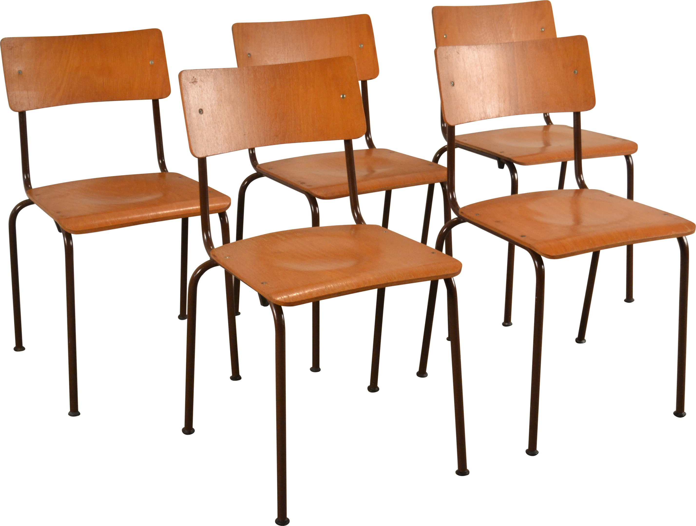 Set of Five Chairs, VEB Bemefa, Germany, 1970s
