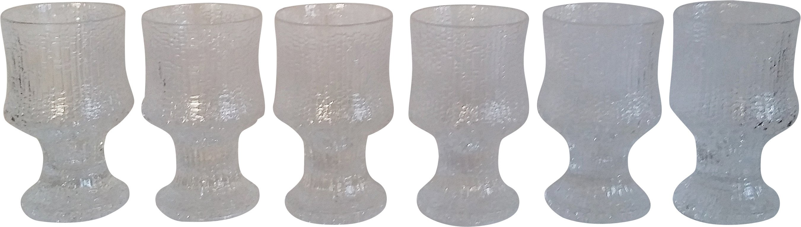 Set of Six Glasses by T. Wirkkala, Littala, Finland, 1960s