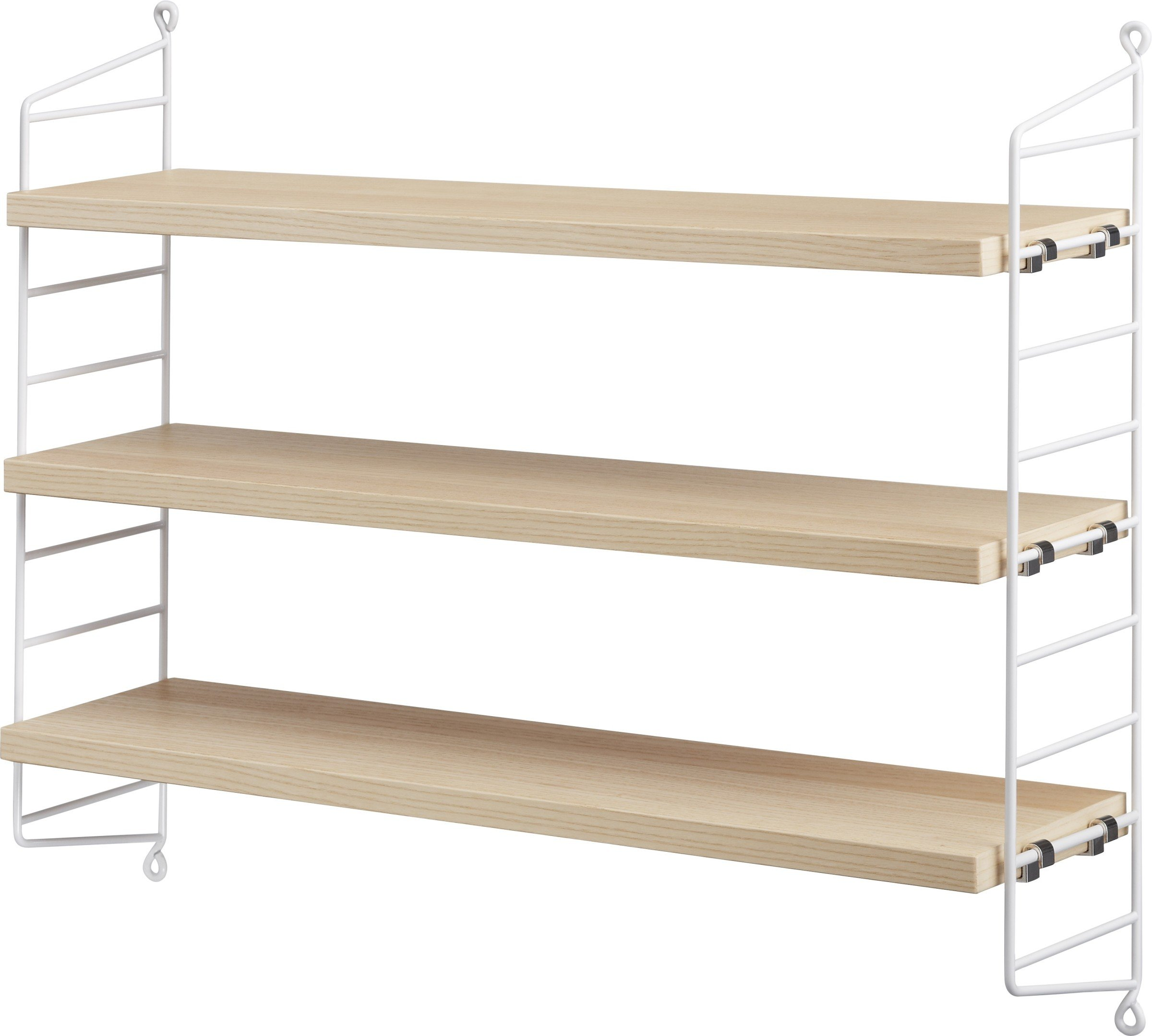 String Pocket shelves Ash/ White, by N. Strinning