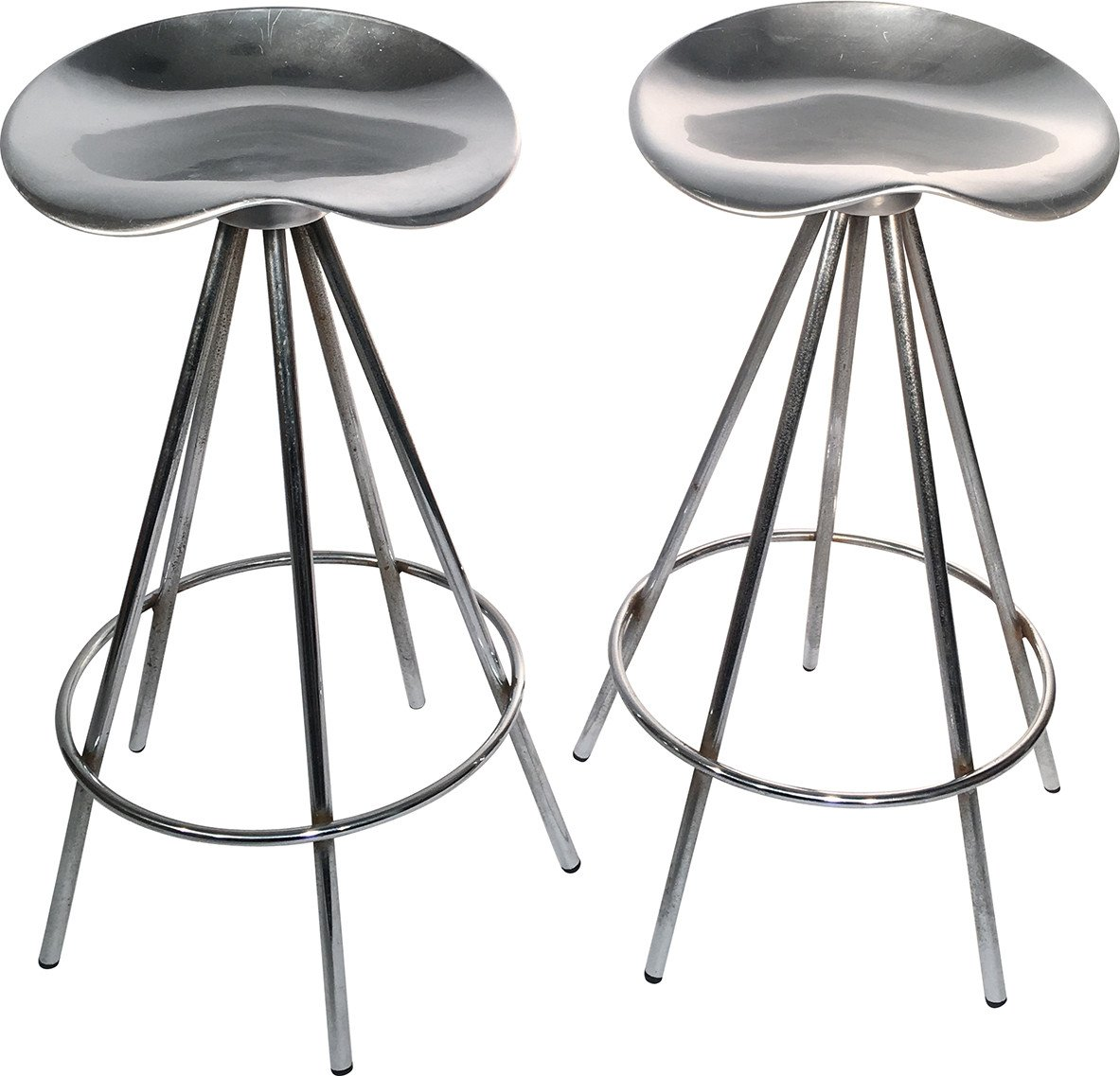 Set of Two Jamaica Stools by P. Cortés for Amat, Spain, 1990s