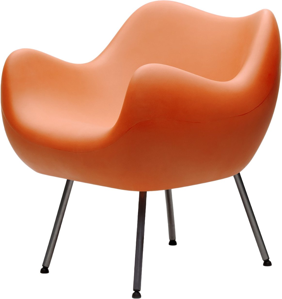 RM58 Armchair Matte Orange by R. Modzelewski for VZÓR