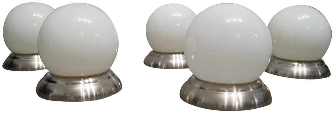 Set of Five Sconces, 1970s