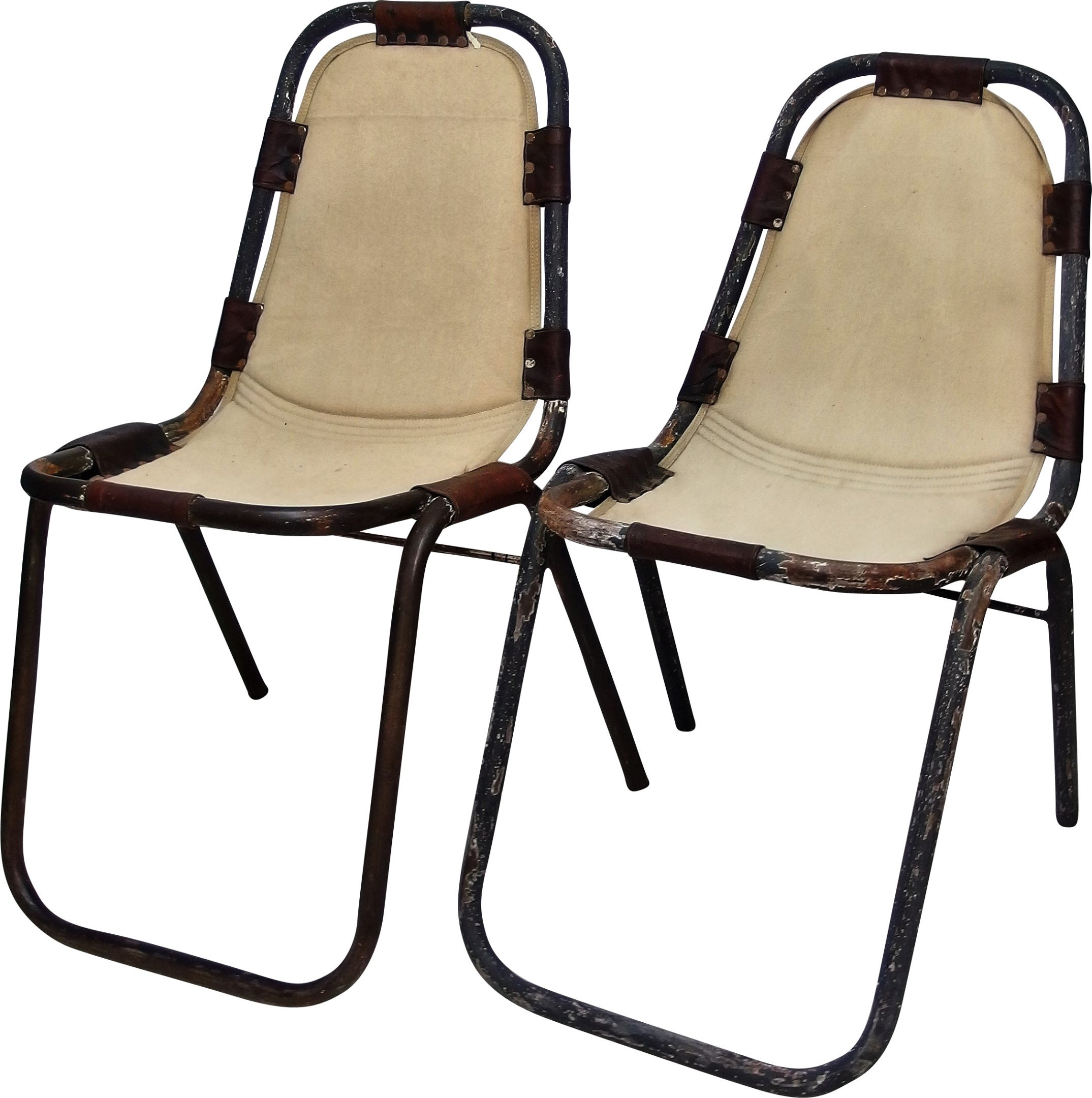 Pair of Chairs by Ch. Perriand, France, 1960s