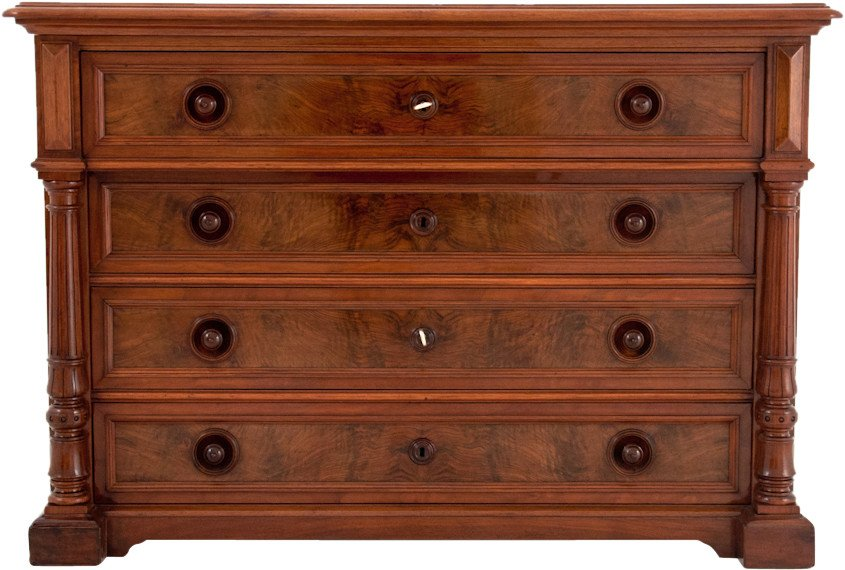 Walnut Chest of Drawers, end of 19th C.