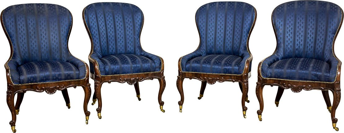Set of Four Neo Rococo Armchairs, early 20th C.