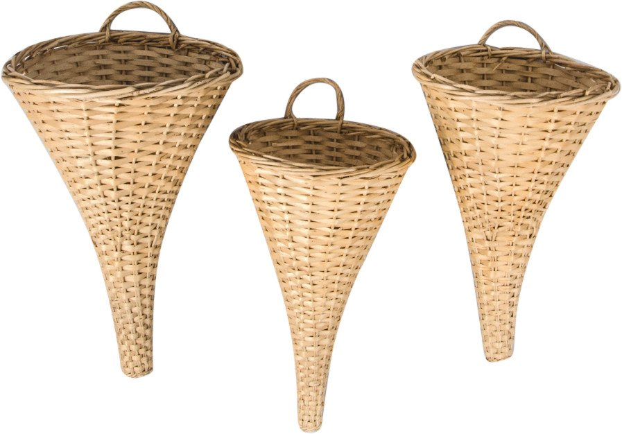 Set of Three Handmade Baskets, Great Britain, 1960s