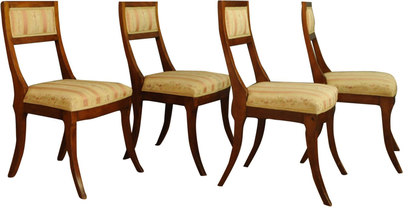 Set of Four Chairs, 1950s